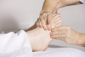 naturopathic care for feet, foot massage