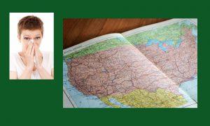allergy, allergies, regional, US, u.s., managing, relief, planning